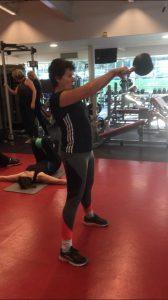 Kettlebell swing tabata (16 kg)
