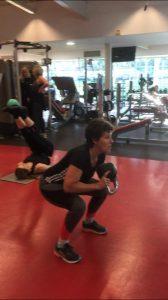 Kettlebell goblet squats - 16 kg